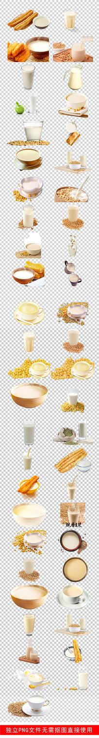 营养早餐豆浆现磨豆浆豆腐素材 PNG