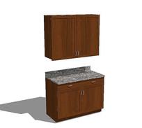组合橱柜台模型 skp
