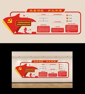 机关党支部社区党建制度文化墙
