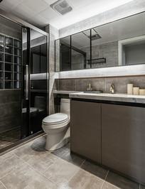 现代风浴室设计 JPG