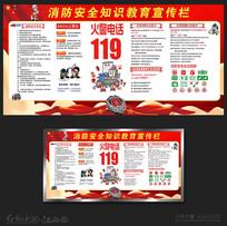 消防安全知识教育展板