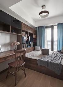 原木风组合书房卧室 JPG