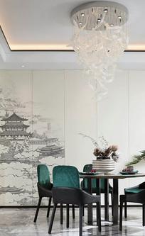中式韵味餐厅设计 JPG