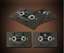 磁带复古名片 PSD