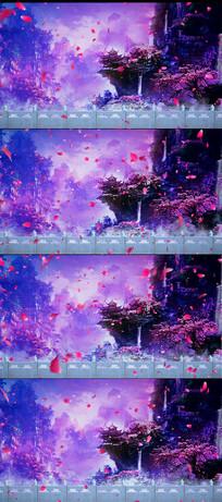 桃花花瓣飞舞LED舞台