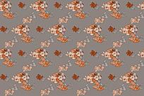 橙色花叶平铺背景图 JPG