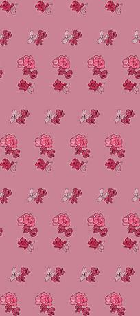 粉色小碎花阵列背景图