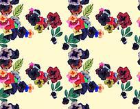 各色花朵网状分布背景图