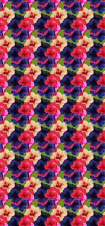 瑰丽花朵平铺底纹