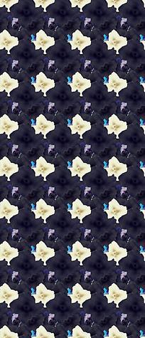 黑白花朵平铺背景设计