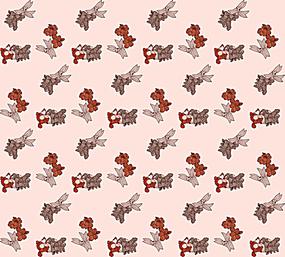 红色印花底纹背景图