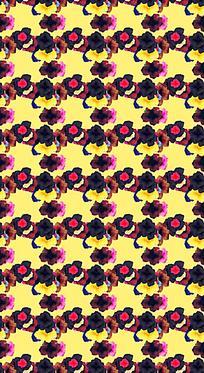 花朵网格平铺背景设计