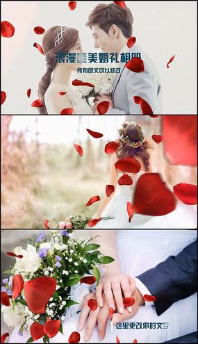 会声会影浪漫玫瑰婚礼模板