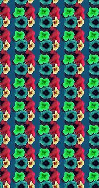 绿色小花平铺底纹背景设计图