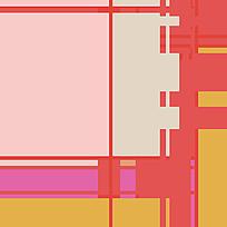 暖色拼接格子布纹图案