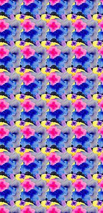 平铺瑰丽花朵背景图
