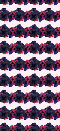 深色花朵平铺背景设计