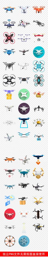 无人机遥控飞行器比赛标示素材 PNG