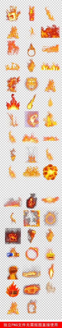 消防安全火焰烈火火苗火圈素材