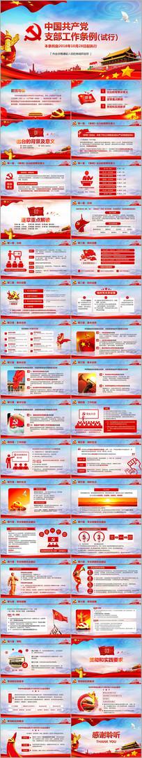 新中国共产党支部工作条例解读PPT