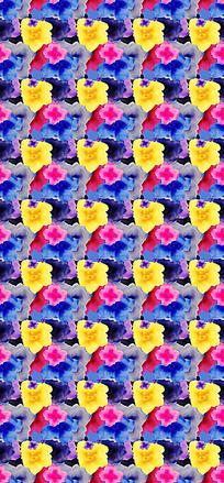 绚丽花朵平铺底纹背景图