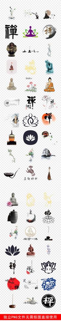 养生文化中国风禅意坐禅禅素材