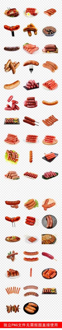 营养早餐食品美食火腿素材