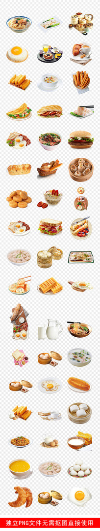 营养早餐西式美味点心食物素材