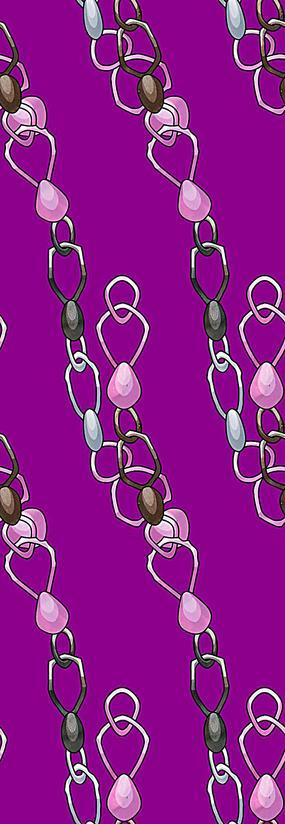 紫色阵列装饰链背景图
