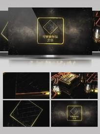 钻石暗黑风金属片头动画模板