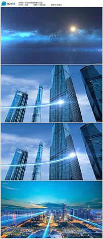 大气城市科技光线穿梭片头