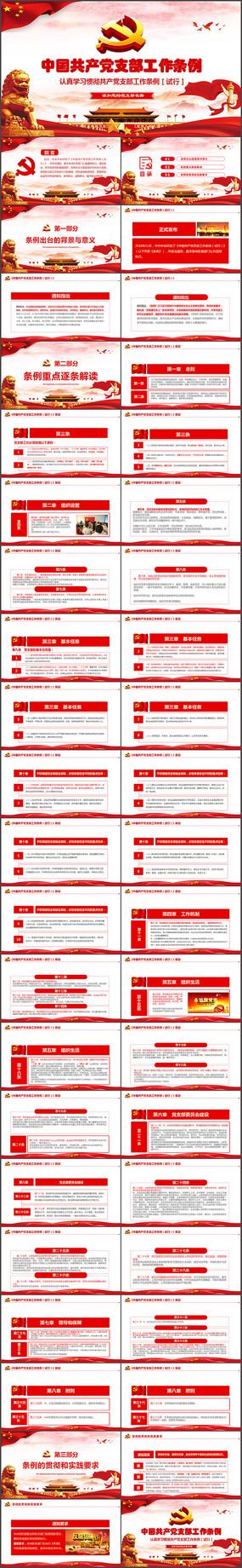 共产党党支部工作条例PPT