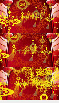 开门红大灯笼喜庆背景视频素材