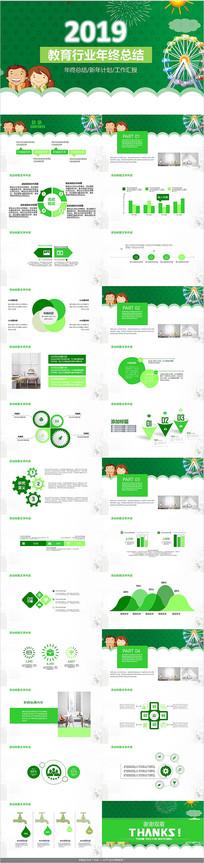 绿色教育工作汇报PPT模板