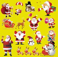 圣诞老人圣诞雪人圣诞素材
