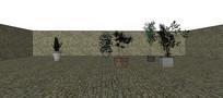 植物园盆栽收集SU模型 skp