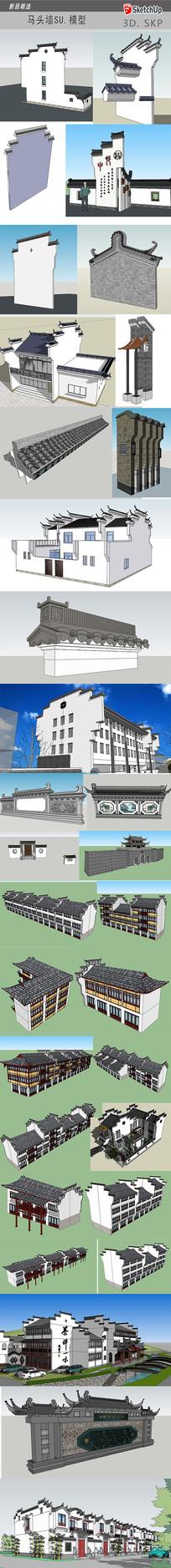 中式古典建筑模型