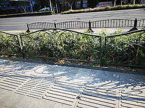 道路绿化围栏铁艺花纹