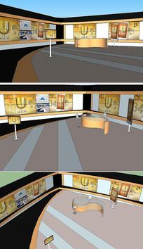 电视节目演播室舞台草图模型