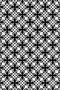 黑白矢量花纹图案