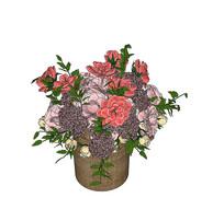 红花花瓶装饰