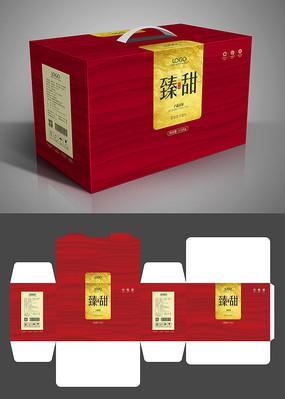 简约大气红色春节礼盒包装模板