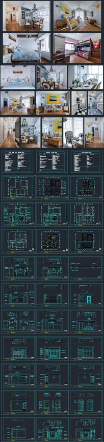 简约装修施工图设计CAD
