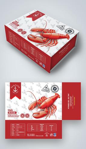 龙虾包装海鲜礼盒包装设计