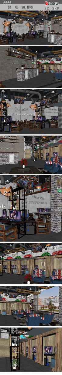 网吧室内模型