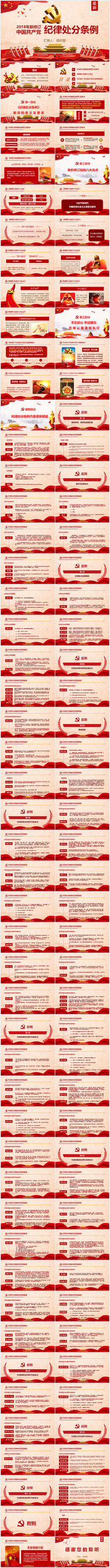 新修订共产党处分条例PPT