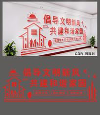 倡导文明新风社区文化墙