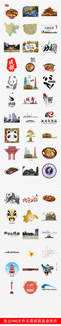 成都旅游特产美食家乡地理素材