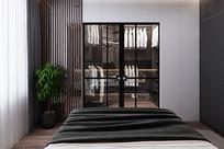 灯芯绒元素住宅卧室意向 JPG