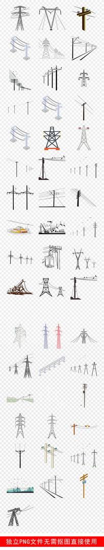 电力知识电线杆安全用电素材 PNG